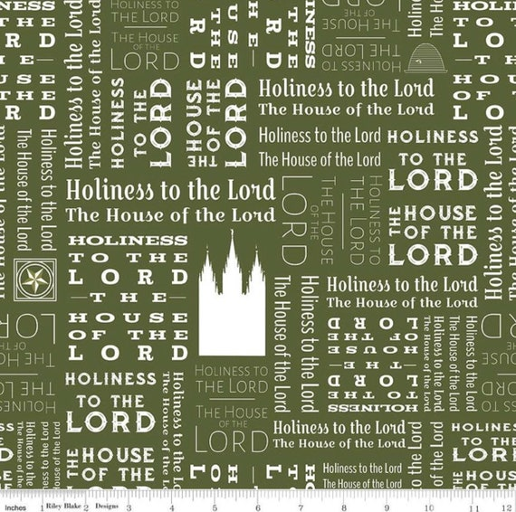 Temples- 1/2 Yard Increments, Cut Continuously- C9863 Green Text- by Amanda Herring for Riley Blake Designs