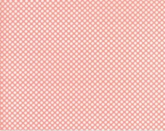 1/2 Yard Vintage Holiday by Bonnie and Camille for Moda- 55162-14 PinkChristmas Dot