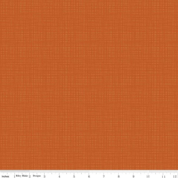 Adel in Autumn Texture - C610 Pumpkin -1/2 Yard Increments, Cut Continuously- by Sandy Gervais for Riley Blake Designs