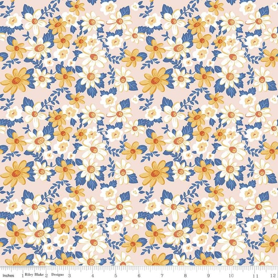 Summer Picnic - 1/2 Yard Increments, Cut Continuously - C10750 Pink Main by Melissa Mortenson for Riley Blake Designs
