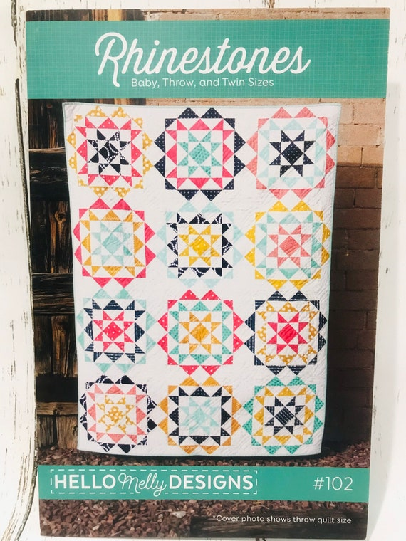 """Rhinestones Quilt Pattern by Hello Melly Designs for Riley Blake Designs- #102- Finished Quilt Size 64.5"""" x 48.5"""""""