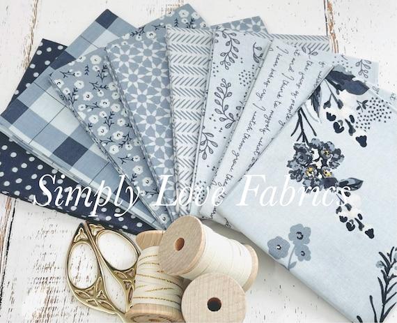 Gingham Foundry -Fat Quarter Bundle- 8 Mist Fabrics by My Minds Eye for Riley Blake Designs