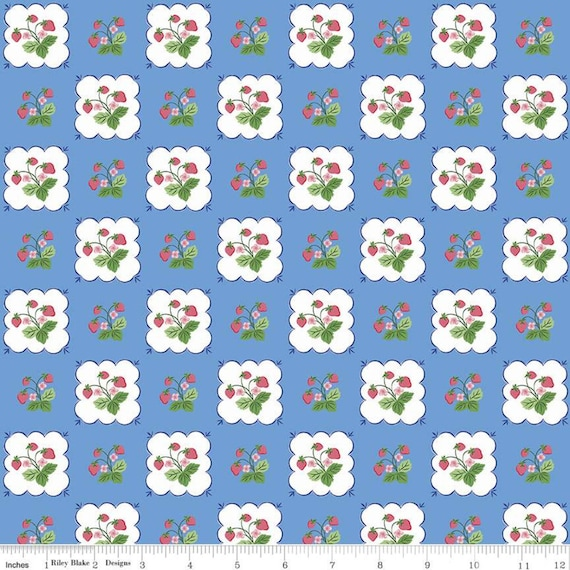 Summer Picnic - 1/2 Yard Increments, Cut Continuously - C10751 Blueberry Tablecloth by Melissa Mortenson for Riley Blake Designs