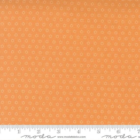Pumpkins and Blossoms- 1/2 Yard Increments, Cut Continuously  (20428 12 Polka Dot Circle - Pumpkin) by Fig Tree & Co. for Moda