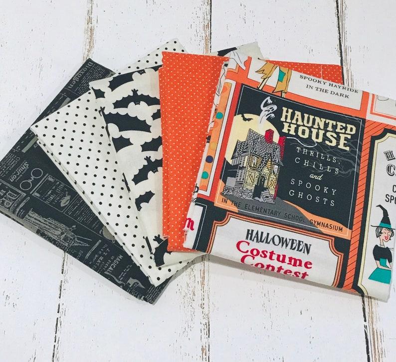 Haunted Hill Trick or treat Halloween 4 piece bundles 100/% cotton fabric