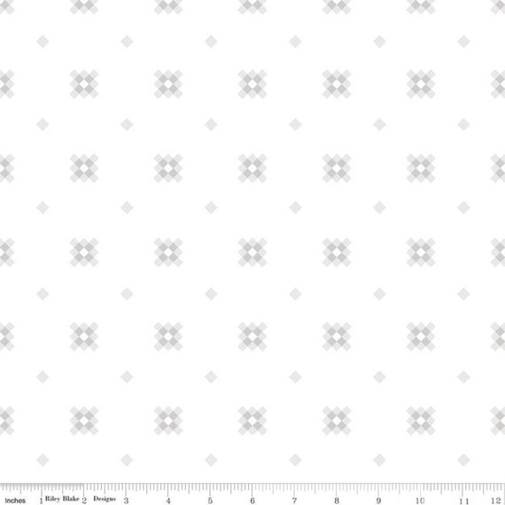 Hush Hush- 1/2 Yard Increments, Cut Continuously (11173 Granny) by Melanie Collette of Hello Melly Designs For Riley Blake Designs