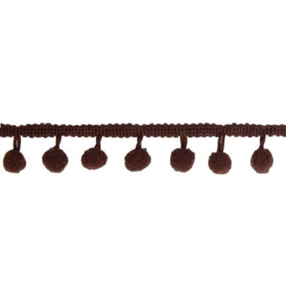 5 Yard Bundle Pom Poms by Riley Blake Designs - STPR Brown
