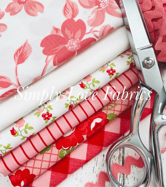 Sunday Stroll- 1/2 Yard Bundle (6 Fabrics Pink) by Bonnie and Camille for Moda