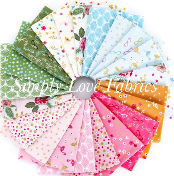 Stardust- Fat Quarter Bundle (FQ-10500- 21 Fabrics) by Beverly McCullough for Riley Blake Designs