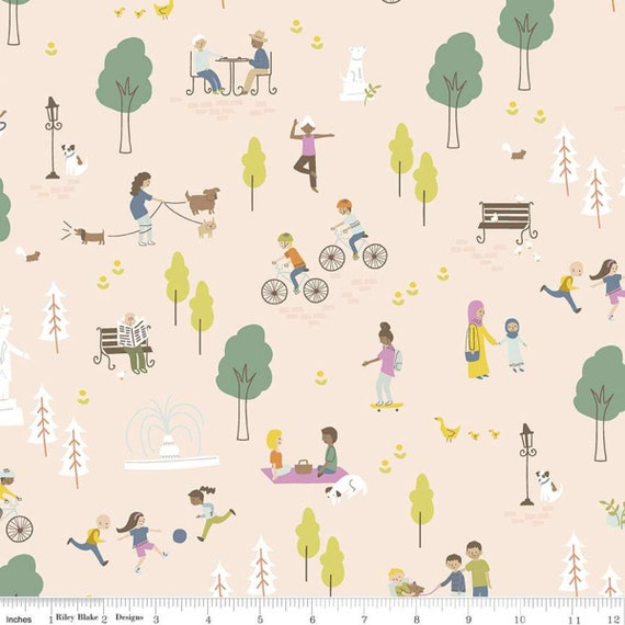 Community- 1/2 Yard Increments, Cut Continuously (C11100 Blush Main) by Citrus and Mint Designs for Riley Blake Designs