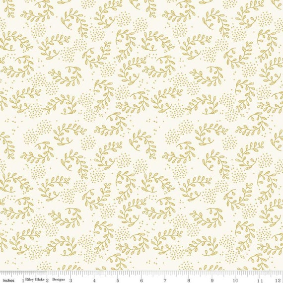 Gingham Foundry -1/2 Yard Increments, cut continuously - Honey Vines - C11133  by My Minds Eye for Riley Blake Designs