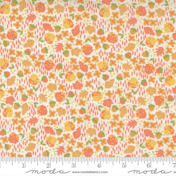 Cozy Up- 1/2 Yard Increments, Cut Continuously (29122 12 Scattered Ditsy Cloud Cinnamon) by Corey Yoder for Moda Fabrics