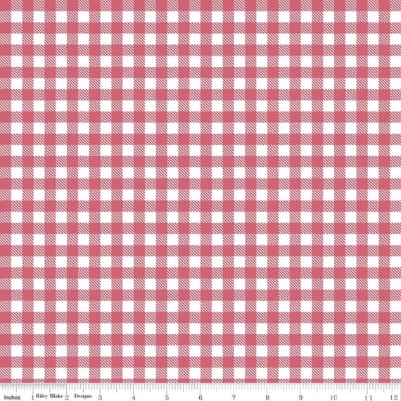 Summer Picnic - 1/2 Yard Increments, Cut Continuously - C10755 Tea Rose Gingham by Melissa Mortenson for Riley Blake Designs
