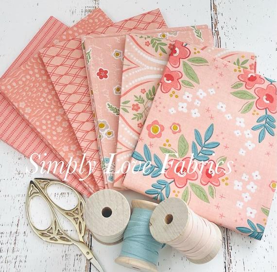 Primrose Hill -Fat Quarter Bundle- 6 Coral Fabrics by Melanie Collette for Riley Blake Designs