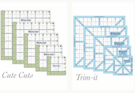 Cute Cuts Ruler Set by Lori Holt of Bee in my Bonnet for Riley Blake Designs- Options