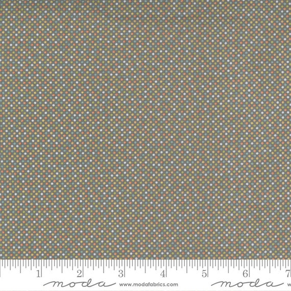 Cozy Up- 1/2 Yard Increments, Cut Continuously (29126 16 Pin Dot Grey Skies) by Corey Yoder for Moda Fabrics
