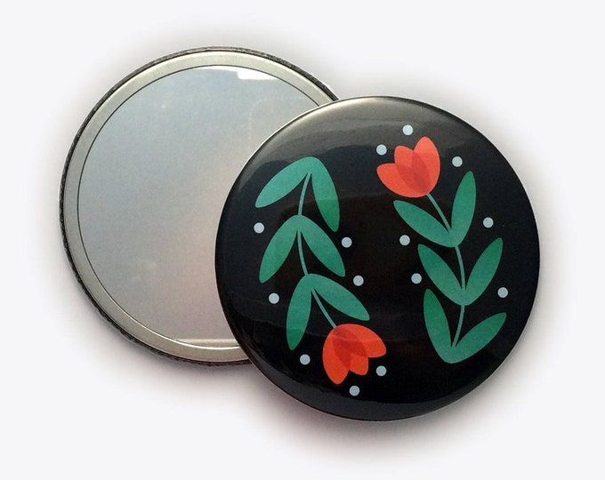 Folky Dokey Tulip Pocket Mirror