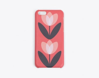 Tulip iPhone Case in Coral Red