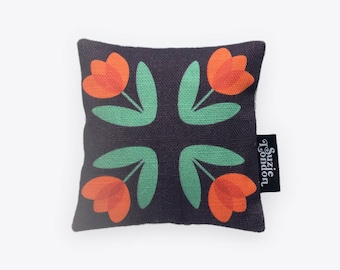 Red Folky Dokey Tulip Lavender Bag in Midnight