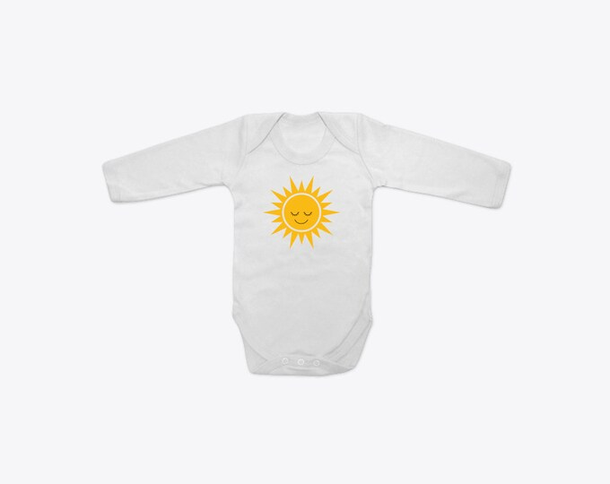 Happy Sun Organic Cotton Long Sleeve BabyGrow