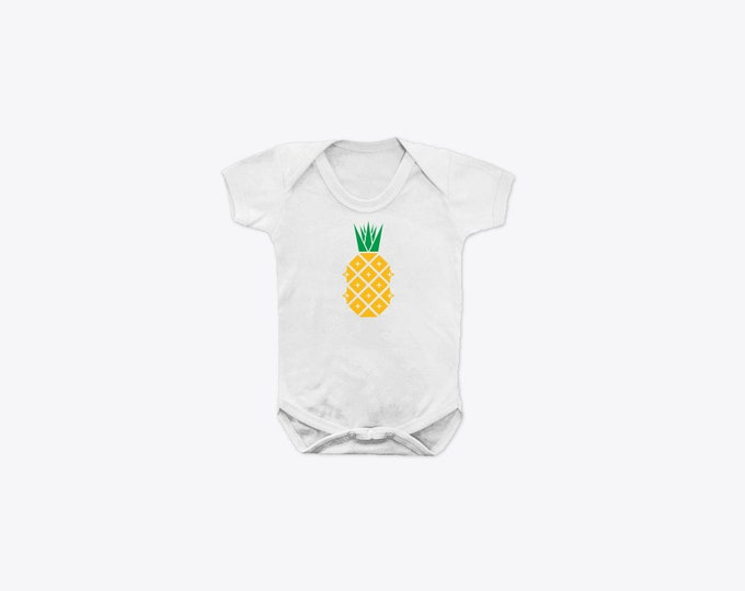 Disco Pineapple Organic Cotton Short Sleeve BabyGrow