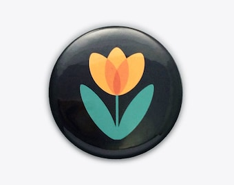 Yellow Tulip Pocket Mirror