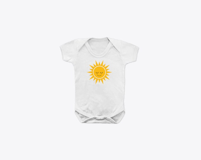 Happy Sun Organic Cotton Short Sleeve BabyGrow