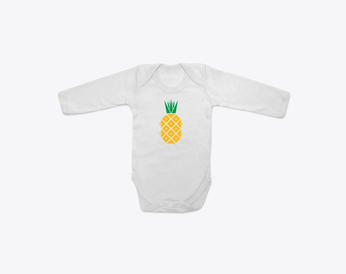 Disco Pineapple Organic Cotton Long Sleeve BabyGrow