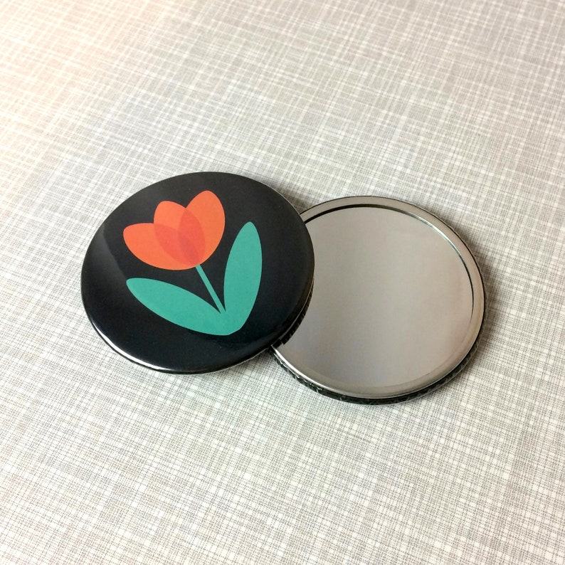 Red Tulip Pocket Mirror by Suzie London image 0