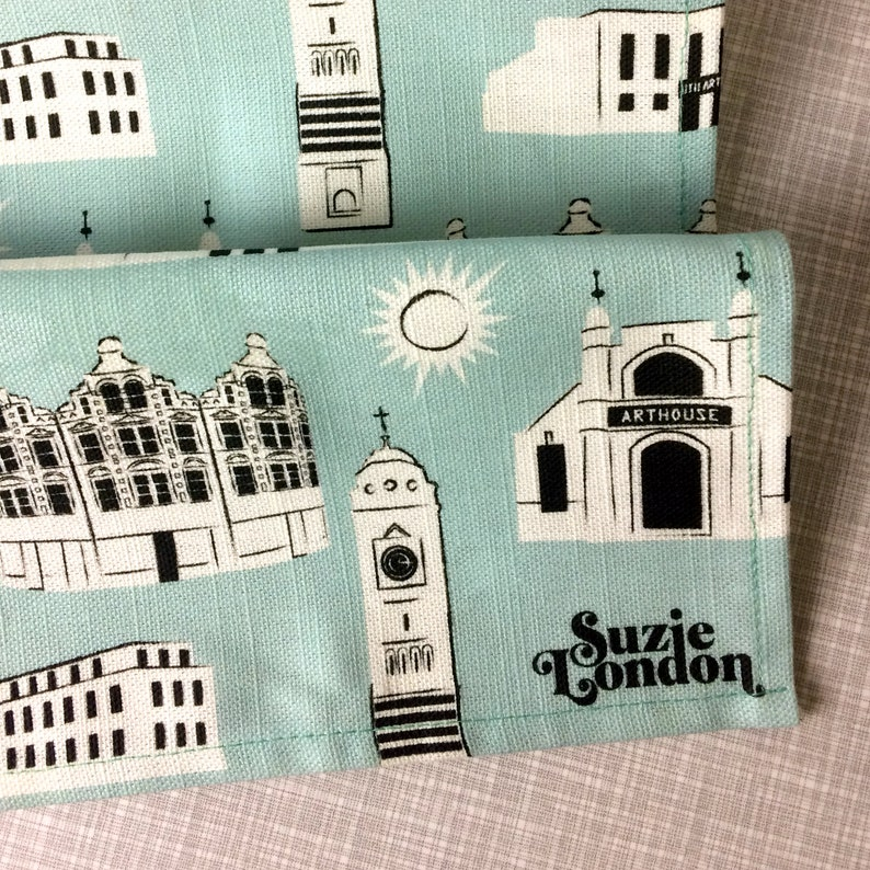 Crouch End Pattern Tea Towel / Architecture Tea Towel / London image 0