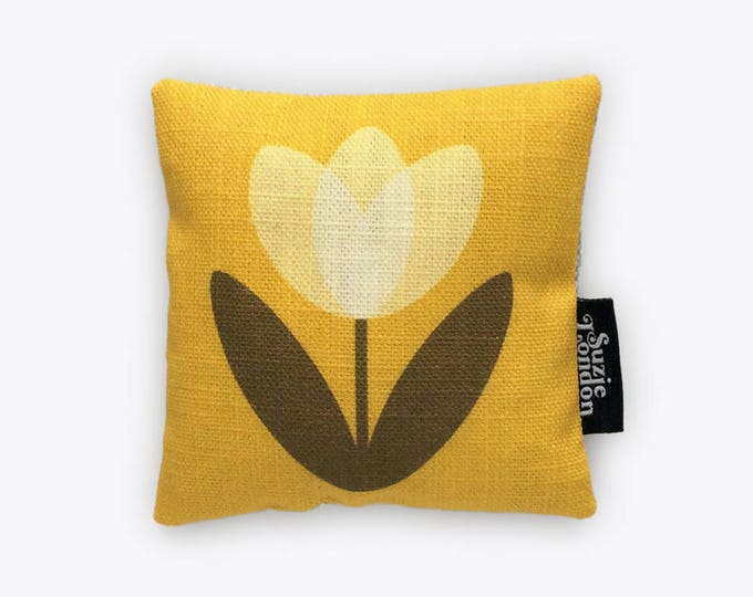 White Tulip Lavender Bag in Yellow