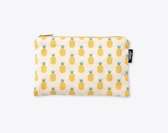New! Disco Pineapple Organic Cotton Zip Bag