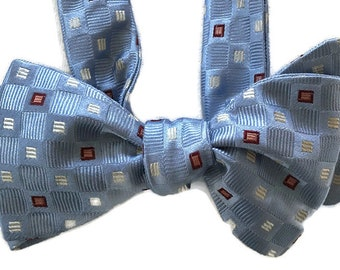 Handmade Horizon Silk Bow Tie for Men Free Shipping One of-a-Kind