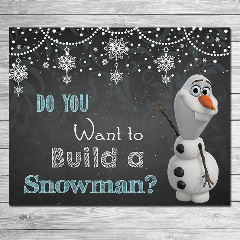 photograph regarding Do You Want to Build a Snowman Printable known as Frozen Do Your self Have to have toward Produce A Snowman Signal Chalkboard Olaf // Frozen Printable Wall Artwork // Frozen Chalkboard Indication // Frozen Social gathering Prefer