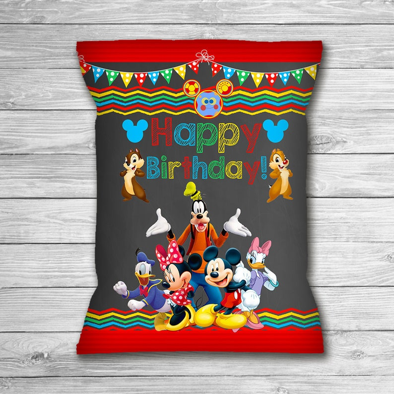 Mickey Mouse Clubhouse Chip Bag Labels Chalkboard