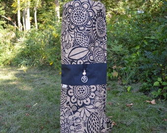 Jute Flowers-Handcrafted One of a Kind Yoga Mat bag