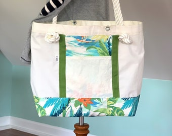 Large Tropical style recycled Sail Bag