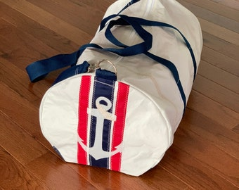 Nautical Anchor Duffle Bag from recycled sail