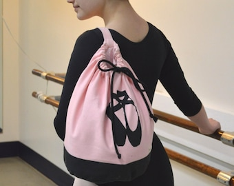 Canvas Ballet Dance Drawstring Bag