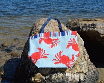 Lg. Crab printed Tote