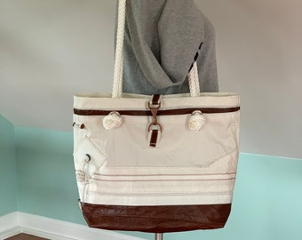 Recycled Sail and leather bag