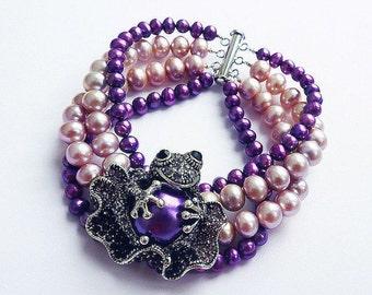 """Pearl bracelet """"VIOLET"""""""