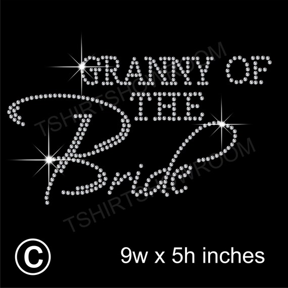 "/""Mother of the Bride/"" Party Rhinestone Transfer Hotfix Iron on with a Free Gift"