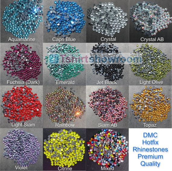 Siam Red HotFix Diamantes GLASS Rhinestone DMC Quality Flat Back Glue Iron On