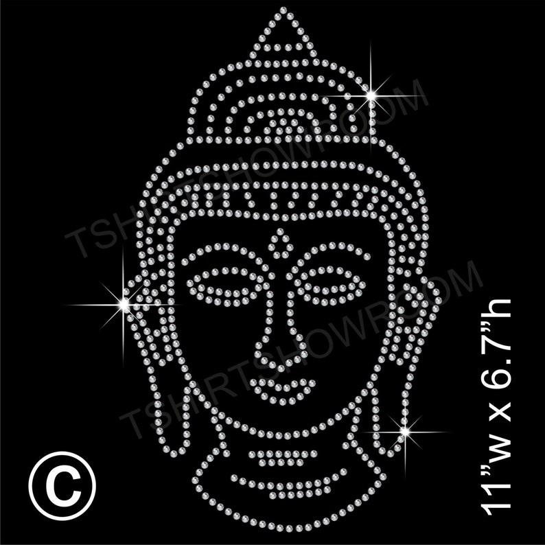 Buddha Rhinestone   Diamante Hotfix Transfer Iron-on Applique  81f21d1b0aae