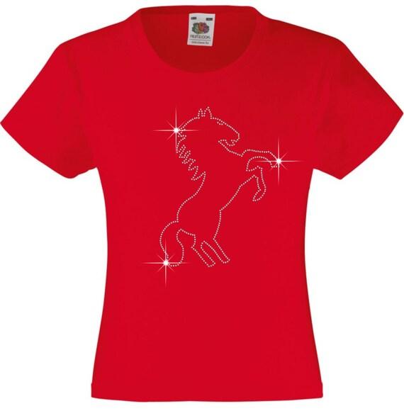 Geschenkidee MädchenTolle Pferd Strass Tierliebhaber T Geburtstage Oder Diamante Aufzucht Für Jeden Shirt Anlass Verziert Ihre I2DWEHY9