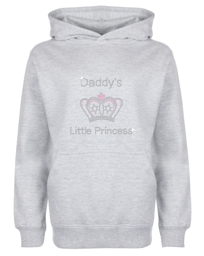 Princess Rhinestone//Diamante embellished children/'s Hoodie Sweat Shirt Gift