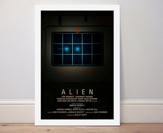 A0 A1 A2 A3 A4 Sizes Alien Movie Giant Poster