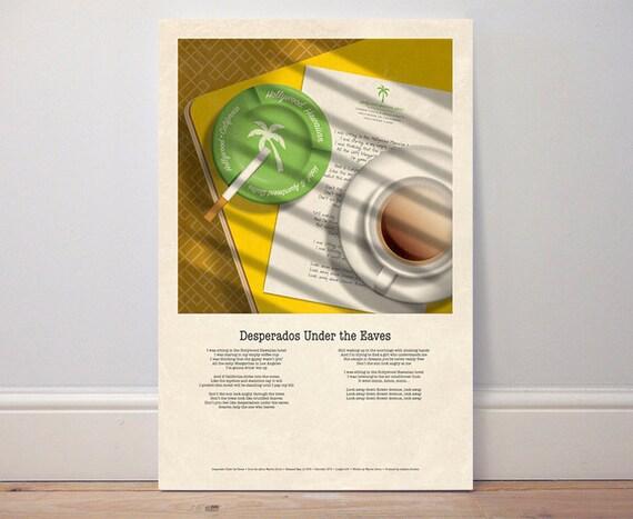 Music Poster Desperados Under The Eaves 1976 Warren Etsy