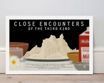 Movie poster 'Close Encounters of the Third Kind' colour print